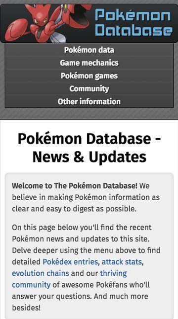 PokemonDb modern design