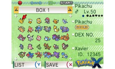 Pokemon Bank local box view