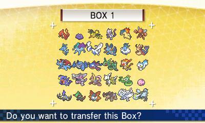 Pokemon Bank transfer