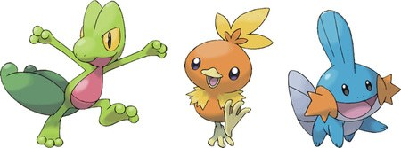 The Hoenn Starters Treecko Torchic And Mudkip