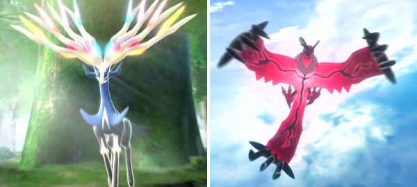 New legendary Pokémon Xerneas & Yveltal in Pokémon X&Y
