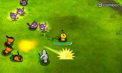 Pokemon Rumble Blast action scene