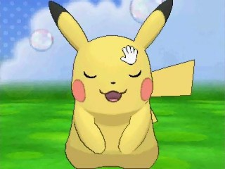 Pikachu in Pokemon-Amie
