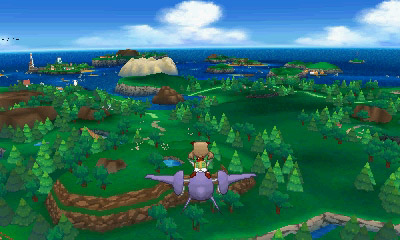 Flying over Hoenn
