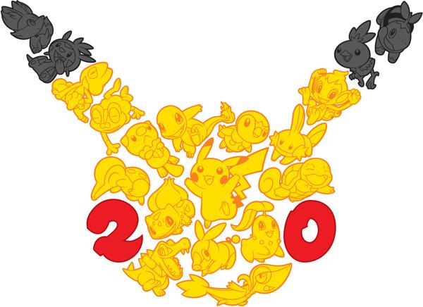 Pokemon logo make up of other Pokemon
