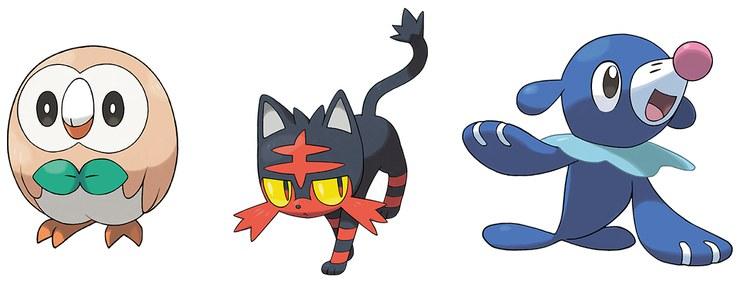 Pokémon Sun/Moon starters