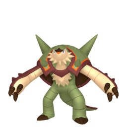 Chesnaught Shiny sprite from Home