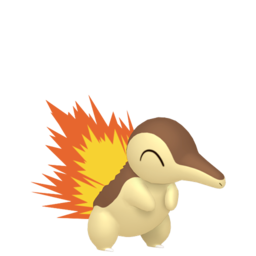 Cyndaquil Shiny sprite from Home