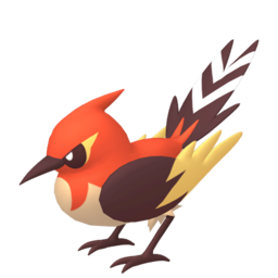 Fletchinder Shiny sprite from Home