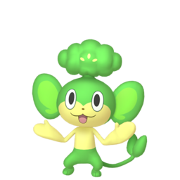 Pansage Shiny sprite from Home