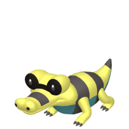 Sandile Shiny sprite from Home