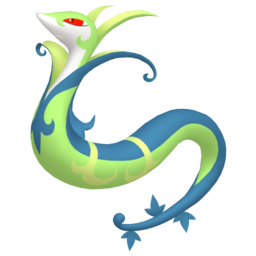 Serperior Shiny sprite from Home