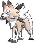 Lycanroc  sprite from Sun & Moon