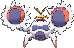 Crabominable Shiny sprite from Sun & Moon