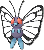 Butterfree  sprite from Ultra Sun & Ultra Moon