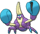 Crabrawler  sprite from Ultra Sun & Ultra Moon