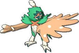 Decidueye  sprite from Ultra Sun & Ultra Moon