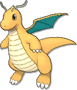 Dragonite  sprite from Ultra Sun & Ultra Moon