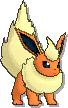 Flareon  sprite from Sun & Moon