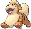 Growlithe  sprite from Ultra Sun & Ultra Moon