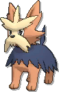 Herdier  sprite from Ultra Sun & Ultra Moon