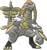 Kommo-o  sprite from Ultra Sun & Ultra Moon