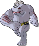 Machoke  sprite from Ultra Sun & Ultra Moon & Sun & Moon