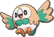 Rowlet  sprite from Ultra Sun & Ultra Moon