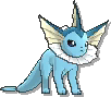 Vaporeon  sprite from Sun & Moon