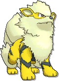 Arcanine Shiny sprite from Ultra Sun & Ultra Moon