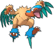 Archeops Shiny sprite from Ultra Sun & Ultra Moon