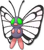 Butterfree Shiny sprite from Ultra Sun & Ultra Moon & Sun & Moon