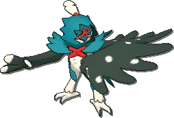Decidueye Shiny sprite from Ultra Sun & Ultra Moon