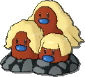 Dugtrio Shiny sprite from Ultra Sun & Ultra Moon