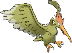 Fearow Shiny sprite from Ultra Sun & Ultra Moon & Sun & Moon
