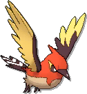 Fletchinder Shiny sprite from Ultra Sun & Ultra Moon