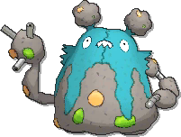 Garbodor Shiny sprite from Ultra Sun & Ultra Moon