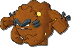 Graveler Shiny sprite from Sun & Moon