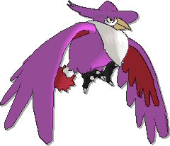 Honchkrow Shiny sprite from Ultra Sun & Ultra Moon