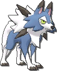 Lycanroc Shiny sprite from Sun & Moon