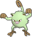 Mankey Shiny sprite from Ultra Sun & Ultra Moon & Sun & Moon