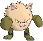 Primeape Shiny sprite from Ultra Sun & Ultra Moon
