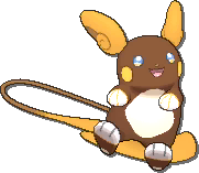 Raichu Shiny sprite from Ultra Sun & Ultra Moon