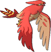 Talonflame Shiny sprite from Ultra Sun & Ultra Moon