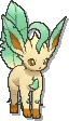 Leafeon  sprite from Ultra Sun & Ultra Moon