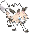 Lycanroc  sprite from Ultra Sun & Ultra Moon