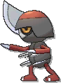 Pawniard  sprite from Ultra Sun & Ultra Moon