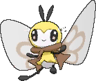 Ribombee  sprite from Ultra Sun & Ultra Moon
