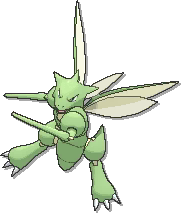 Scyther  sprite from Ultra Sun & Ultra Moon