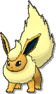 Flareon Shiny sprite from Ultra Sun & Ultra Moon